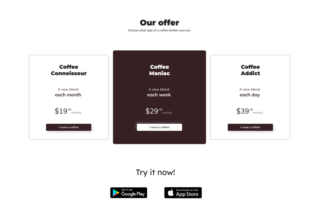 landing page offer